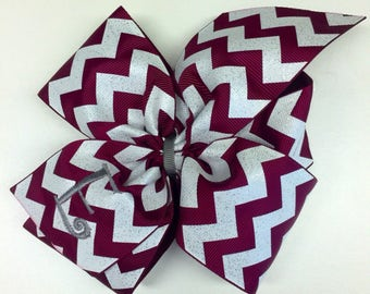 Any Initial, Monogram Hair Bow, Maroon Glitter, Custom Boutique, Hair bows, Embroidered Hairbow, Burgundy Letter, Mono Kids, Girls Large