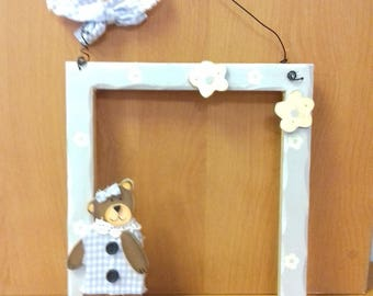 Frame Decoration child or baby wooden