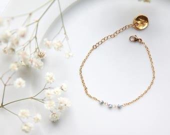 Towa - Bracelet 14k Gold Filled, Howlite