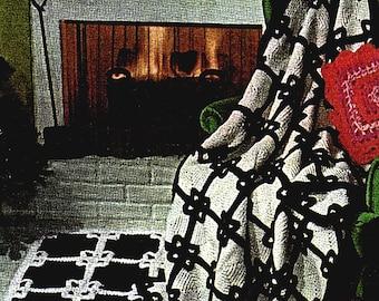 Crocheted Afghan & Rug Motif Pattern  Vintage Crocheting Pattern *PDF Instant Download*