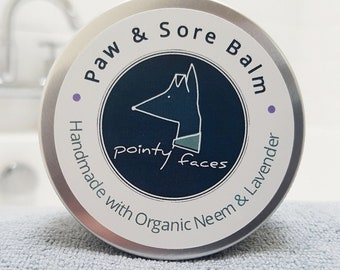 Organic Neem and Lavender Dog Paw and Sore Balm. Moisturising and Soothing Balm for Dogs. 30g