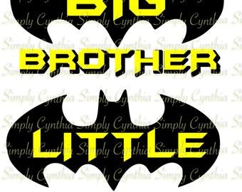 Big Brother and/or Little Brother Batman svg, png, eps, dxf