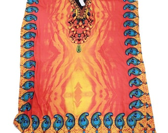 Orange Flame Kaftan