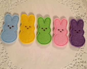 Cute Pastel colors felt Easter Bunny-SET of 4
