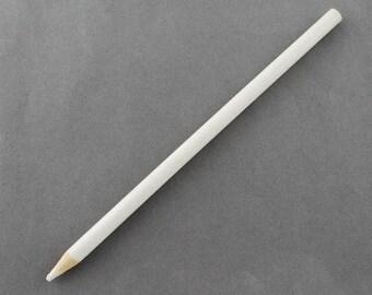 Pencil catches rhinestones - sliced Fimo - non pareils etc.