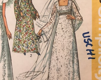 Vintage Wedding Pattern - wedding gowns - bridesmaid dresses - 1970s ...