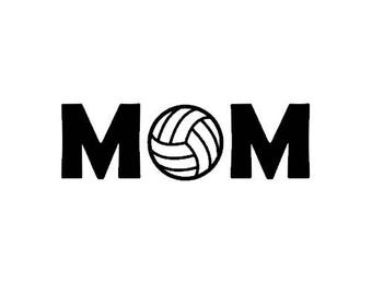Volleyball MOM decal for car, truck, laptop, yeti, tumbler. Volleyball or Holiday Gift.