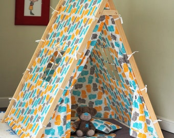 Cotton kids play tent. Play house with play mat, pillow and many more. 17 pcs set