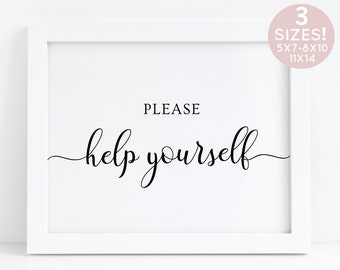 Please Help Yourself Wedding Sign, Help Yourself Sign Restroom Sign, Favor Sign Printable, Ladies Bathroom Sign, Bathroom Signage Wedding