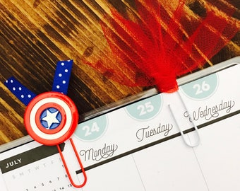 Captain America and Tulle Paperclips