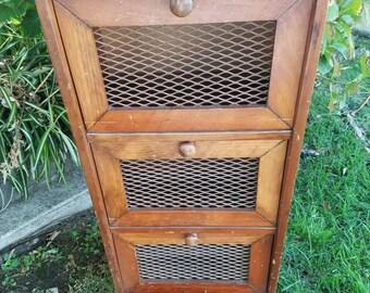Pantry Cabinet with Grille Doors - Pie Safe