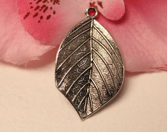 10 charms silver chandelier Charm leaf 19x33mm-creating jewelry