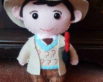 Sylvester McCoy 7th Doctor inspired  felt plushie