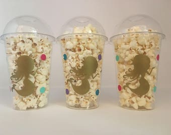 Mermaid Party Favor Cups, Mermaid Party Cups, Mermaid Birthday Party Cups, Mermaid Baby shower cups, Ocean Party Cups