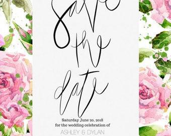 Save The Dates | Digital Invitation | Printable
