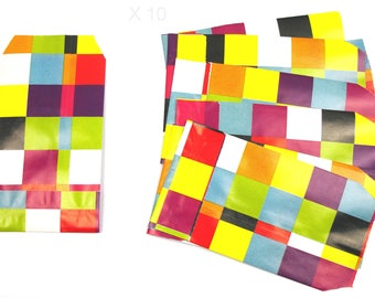 """Pockets present in printed paper """"tiles"""" 13 cm / 7 cm x 10 pieces"""