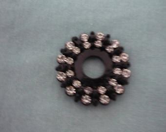 Pendant Swarovski diameter 2.6 cm black