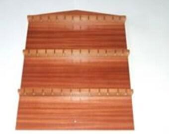 36pc Wooden Spoon Display Rack ( Mahogany Finish )
