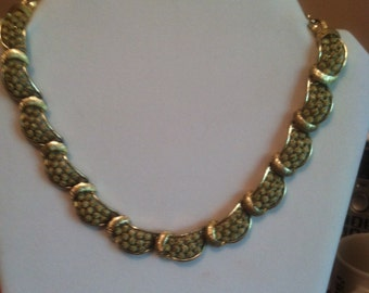 Goldtone Signed Coro Necklace