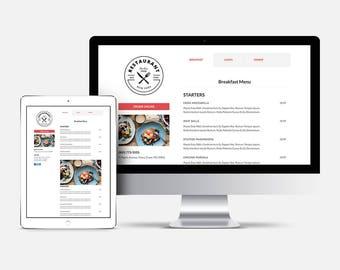 Menu Only Website,  restaurant menu, catering menu, restaurant menu template, food menu, Website design
