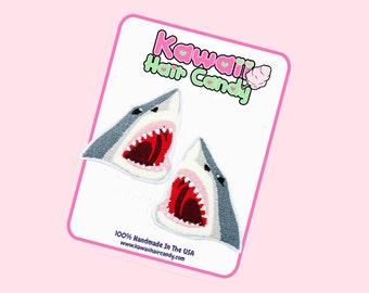Great White Shark / Beach Accessories / Gifts For Shark Lovers / Hair Accessories / Shark Hair Bow / Shark Week / Shark Head / Shark Gifts