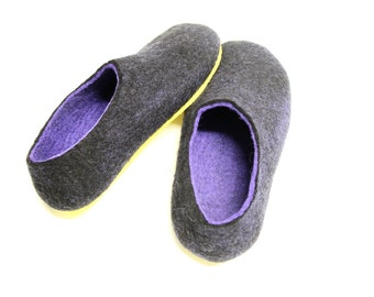 Adult House Shoes, Mens felted slippers, Wool felted clogs, wet Felted Shoes, Felt Clogs boiled wool slippers, House slippers Christmas gift