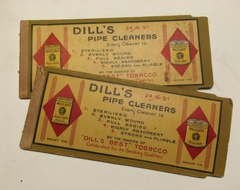 1920s-30s Dill's Pipe cleaners & packaging