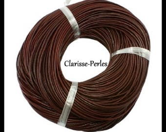 1 meter 2.5 mm chocolate leather cord