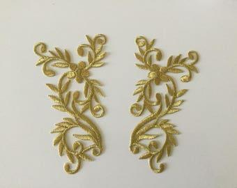 Applique has iron gold color