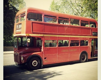 Miniature photography -  London's double-decker red bus