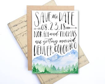 Save the Date - Our Mountain Wedding