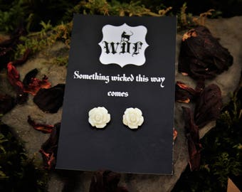 Flora Blanc Earrings