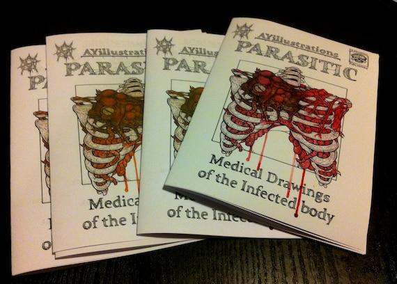 Parasitäre / infizierten Anatomie zine