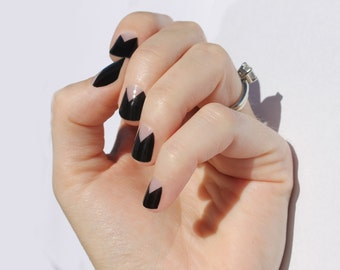 Black Elle Nail Wraps