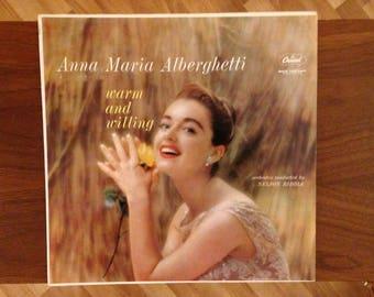 Anna Maria Alberghetti Vinyl Record Album | Warm and Willing