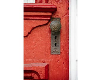 New Orleans French Quarter Photography Rustic Decor Red Door Photography NOLa Art Architecture Photography