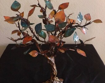 Copper Tree Sculpture