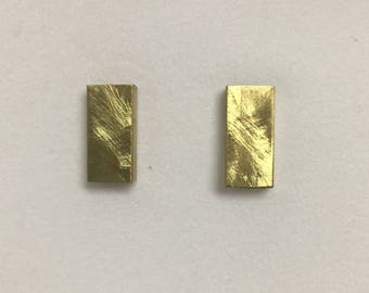 Gold geometric tube studs