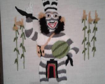 """Vintage 1984 Waterelon Kachina """" Clown Kachina"""""""