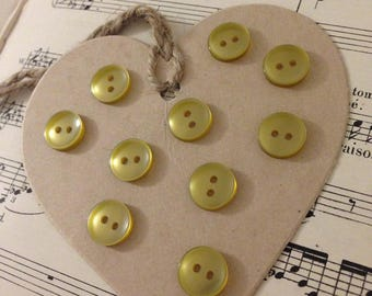 10 small BRONZE buttons