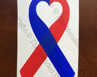 CHD Awareness Ribbon with Heart Center