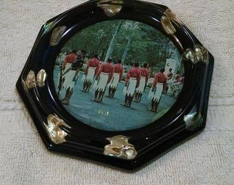 Vintage Fiji Souvenir with Abalone Shell