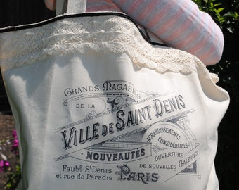 Heavyweight Canvas French Graphic Tote