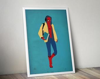Spiderman, Spiderman Poster, Spiderman Print, Spiderman Art, SuperHero Poster, Superhero Art,  Superhero Print, Spiderman Decor, Marvel.