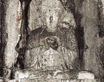Heart Buddha Print, Buddha Wall Art, Zen Art, Heart Art, Meditation Art, Boho Buddha Art, Buddha Photography, Yoga Art, Boho Decor Buddah