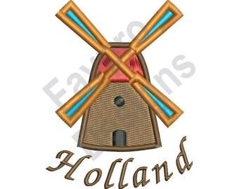 Windmill Holland - Machine Embroidery Design