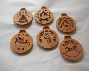 6 cherry christmas ornaments