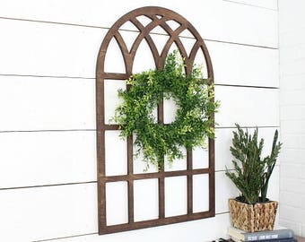 Oversized window* farmhouse style* church window*  window* wood window* farmhouse window* cathedral window* window pane* farmhouse decor