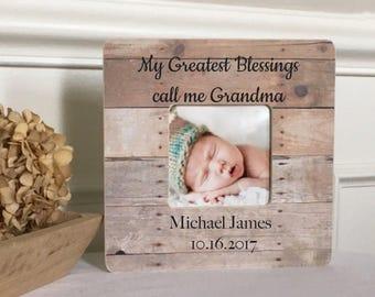 ON SALE  Grandmother Gift Grandma Blessings Grandchildren Frame Gift Customized Greatest Gift