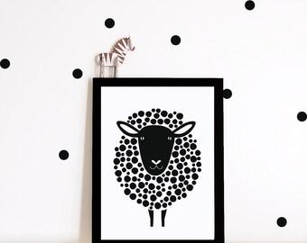 Monochrome nursery wall art, nursery print, monochrome print, nursery decor, kids room poster, kids decor